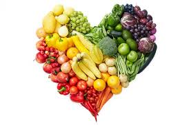 Picture with fruits and vegetables that are important for skin lightening and skin health
