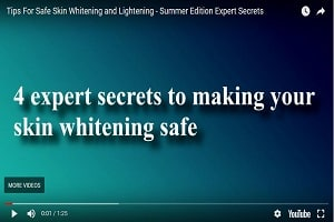 How to make your skin whitening safe (video version)
